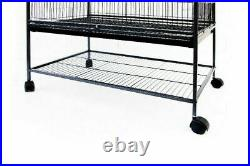 Large 132cm Rolling Portable Metal Bird Cage With Wheels Cockatoo Parot Budgies