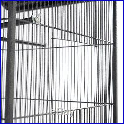 Large 2 Feeding Doors A-Frame Parrot Bird Wire Cage Play Top Perch Stand Cup 61