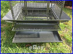 Large 65 Bird Parrot PlayTop Cage Cockatiel Macaw Conure Aviary Bird Supply 327