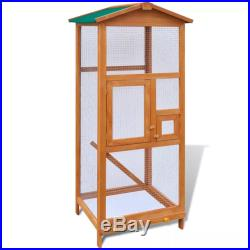 Large Aviary Bird Finch Cage Parakeet Pet Wood House Outdoor waterproof Roof