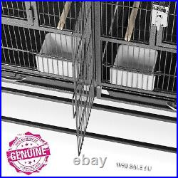 Large Bird Breeder Cage Finch Parrot Canary Breeding Stackable Divided Aviary