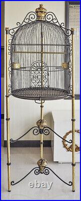 Large Bird Cage Black and Gold Life Size Bird Cage Royal Birdcage 6FT