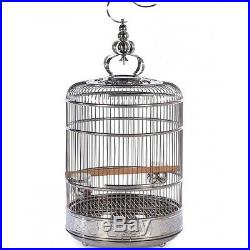 Large Bird Cage Perch Pet Supply Canary Cages Bird Supplies Stainless Steel 19