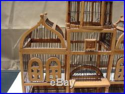 Large Bird Cage Wood & Wire Domed Victorian Taj Mahal Style, 33 by 28