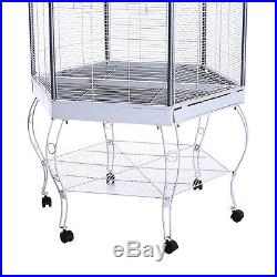 Large Bird Flight Cage Parrot Playpen Macaw Aviary Cockatoo Finch Parakeet Stand