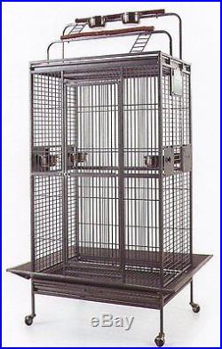 Large Bird Parrot PlayTop Cage Cockatiel Macaw Conure Aviary Pet Supply Finch106