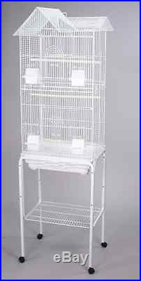 Large Canary Parakeet Cockatiel LoveBird Finch Bird Cages With Stand White-710