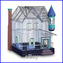 Large Cockatiel Bird Cage Parrot Parakeet Perches Feeders Finch Stand Playground