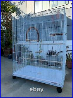Large Flight Aviary Bird Cage Starter Bundle Parakeets Budgies Finch Canary