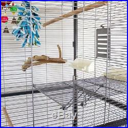 Large Indoor Aviary Budgies Cockatiels Parakeets Small Parrots Accessories