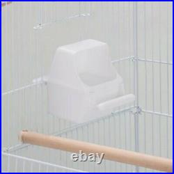Large Metal Bird Cage White for Small Birds Canary Cockatiel Budgie Parakeet