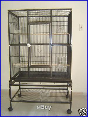 Large New Bird Cage Parrot Cages Cockatiel 32x20x53