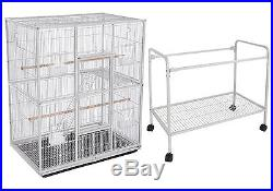 Large New Bird Parrot Cage Cockatiel Conure 32x19x64 Wrought Iron Flight 105