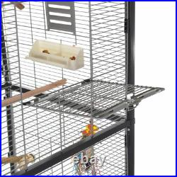 Large New Indoor Aviary Bird Cage On Wheels Parrot Cockatiel Budgie Finch Canary