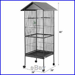 Large Parrot Bird Cage 61 Play Top Pet Finch Cockatiel Supplies Iron Stand