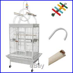 Large Parrot Bird PlayTop Stand Finch Cage Macaws Aviary Pet Supply with Free Toy