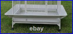 Large Parrot Open Play Dome Top Cage Cockatiel Macaw Conure 28Lx22Wx 62H