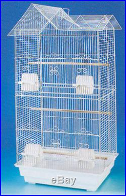 Large Tall Canary Parakeet Cockatiel LoveBird Finch Cages Bird Cage White-711