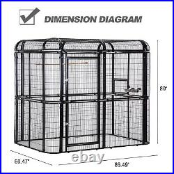 Large Walk in Aviary Bird Cage Parrot Macaw Flight Cage Finch Pet House Outdoor