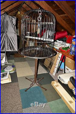 Large Wrought Iron Dome Bird Parrot African Grey Macaw Cockatoo Amazon Cage