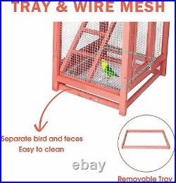 Livebest Wooden Bird Cage Large Aviary House Parrot Finch Macaw Canary Outdoor