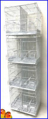Lot of 4 Bird Flgiht Finches Canaries Lovebirds Breeding Cages Center Dividers