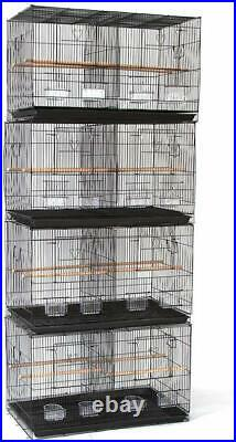 Lot of 4 Breeding Bird Carrier Cage with Dividor for Parakeet Canary Finch Lover