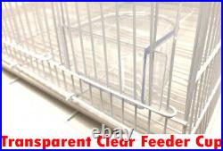 Lot of 4 Large Aviary Breeding Canary Budgie Bird Cages 30x18x18 With Divider