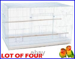 Lot of 4 Large Breeding Breeder Flight Cages Canaries Parakeets Aviaries Finches