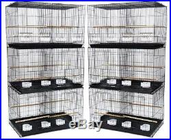 Lot of 6 Breeding Aviary Bird Cages 24x16x16 With Divider - #401 Black 149