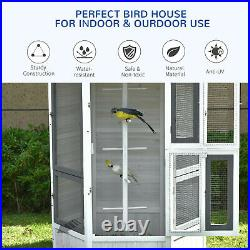 Luxury Outdoor Bird Aviary Budgie Canary Cockatiel Accessories Stable Durable