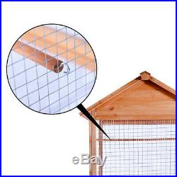 MCombo 70 Outdoor Aviary Bird Cage Wood Vertical Play House 0011
