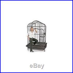 Macaw Parrot Bird Dometop Cage House Home Extra Large Pet Perch Stainless Steel