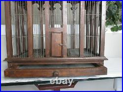 Majestic Wood Bird Cage Vintage Architectural Wooden Victorian Dome Top House