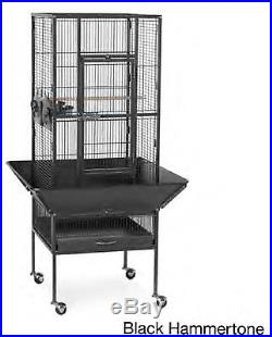 Medium Parrot Pet Supply Bird Metal Cage House Stand Gym Finch Cockatoo Macaw