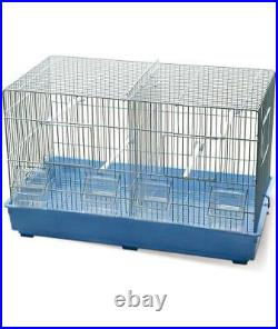 Medium size hatching bird cage complete with cutlery feeders and divider Record