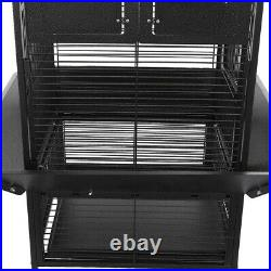 Metal Bird Cage Large Play Top Parrot Finch Cage Macaw Cockatoo Pet Supply