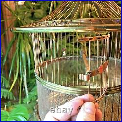 Metal Bird Cage Vintage Art Deco with Stand Beautiful