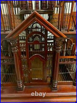Monumental Victorian Style Cathedral Bird Cage