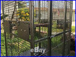 NEW 63 Large Elegant Open Dome Play Top Parrot Macaw Bird Metal Cage 149