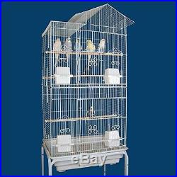 NEW Canary Parakeet Cockatiel LoveBird Finch Bird Cages With Stand #6894-534
