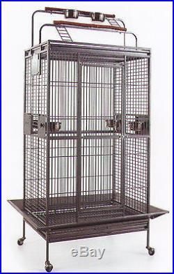 NEW Large Wrought Iron Double Ladders Open Play Top Parrot Macaw Bird Cage 921