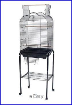 NEW Open Play Top Small Parrot Bird Cage Cockatiel WithStand Black 1718 993