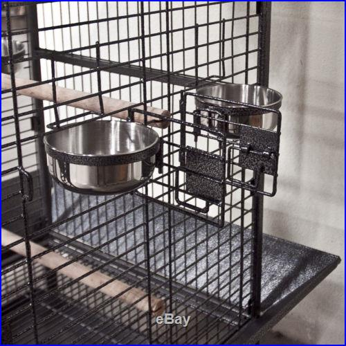 NEW Parrot Bird Pet Cage Macaw African Grey Cages Cockatiel House Stand Lock