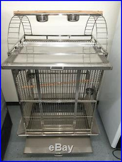 New 304 Stainless Steel Indoor / Outdoor Parrot Macaw Bird Cage with Play Stand