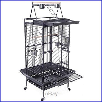 New Bird Cage Large Play Top Pet Suppy Parrot Finch Cage Macaw Cockatoo