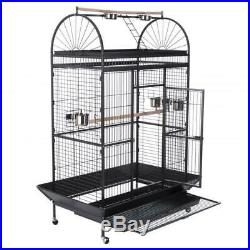 New Large 6FT Parrot Cage Pet Bird Aviary Outer Perch Waste Catcher With Wheels