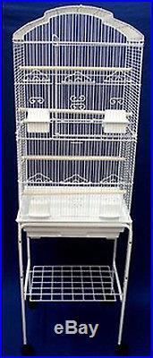 New Large Canary Parakeet Cockatiel LoveBird Finch Bird Cage With White Stand085