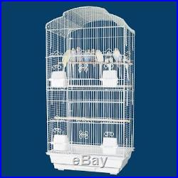 New Large Canary Parakeet Cockatiel LoveBird Finch Bird Cage With White Stand365