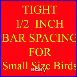 New Large Wrought Iron Flight Canary Bird Cage With Removable Rolling Stand-148